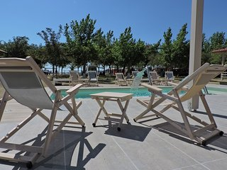 Houses in front of the sea in camping Valti - Sarti vacation rentals