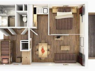 2p de 35m2 pour 6 couchages piscine sauna hammam - La Foux vacation rentals