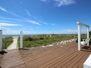 FREE POOL HEAT & 6 BIKES!* Oceanfront Home, Private Beachfront Boardwalk with - Hilton Head vacation rentals