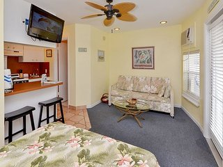 Sea Rocket #21- Second Floor Gulf Front Efficiency Condo- Steps from the Sand - North Redington Beach vacation rentals