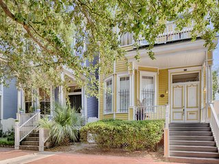 Dog-friendly Victorian townhouse w/ porch & deck, 2 blocks from Forsyth Park! - Savannah vacation rentals