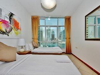 2 BR Apartment with lovely Marina views - Dubai Marina vacation rentals