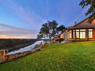 Regal Riverfront Home with Terrace, Boathouse & 2 Separate Cabins - Spicewood vacation rentals