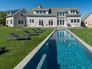 CHAVG - Deep Bottom, Oustanding New Contemporary Designer Home, Heated Pool, Walk to Association Tennis Courts - Martha's Vineyard vacation rentals