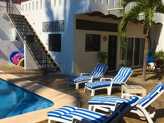 100 steps to the beach in authentic Mexico; pool; (Casa de la Alegria 2B/1B) - La Peñita de Jaltemba vacation rentals