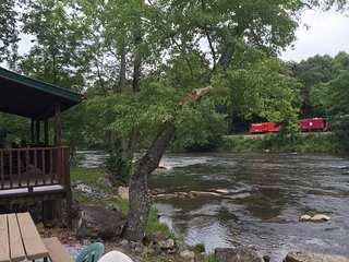 Cozy Riverfront Cabin with Fireplace 2 - Sylva vacation rentals