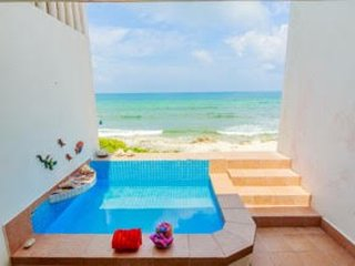 Wading Pool - Cozy Oceanfront two Bedroom House-Casa Tranquila - Isla Mujeres - rentals