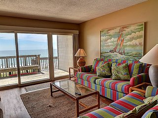 Queen's Grant B-105 - Dynamic Oceanfront View, Pool, Hot Tub, Boat Ramp & Dock - Topsail Beach vacation rentals