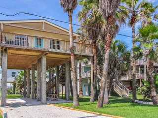 Breezy, dog-friendly home with a deck, Gulf views & easy access to the sand! - Galveston vacation rentals