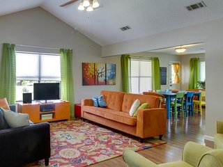 A hot tub, game room, pool, and dog-friendly vibrant home awaits! - Driftwood vacation rentals