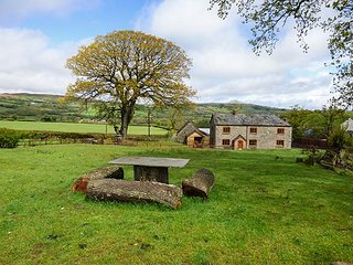 PENTRE MAWR, detached farmhouse, hot tub, WiFi, pet-friendly, in Painscastle, Ref 920613 - Painscastle vacation rentals