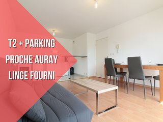T2 RECENT + LINGE FOURNI + PARKING - Pluneret vacation rentals