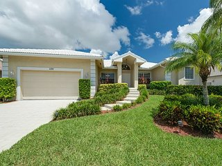 Pet-friendly waterfront home with all-tile interior and heated pool - Marco Island vacation rentals