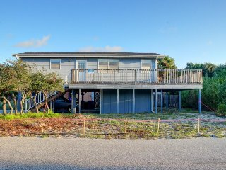 Dog-friendly home offers easy beach access, oceanview, & wraparound deck! - Saint Augustine vacation rentals