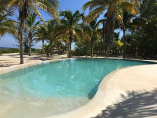 The large private beachfront property with laguna pool, WIFI and AC - Telchac Puerto vacation rentals