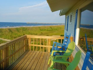 Ocean Front Beach Cottage-180 degrees ocean view from every room and L-deck. - Oak Island vacation rentals