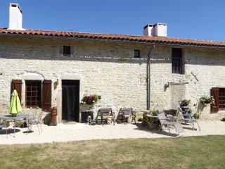 La Guingette La Milliere. A traditional stone longére in a rural setting - Romagne vacation rentals