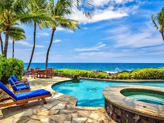 Beautiful Oceanfront Home in Gated Kona Bay Estates Community, Blue Water #34-PHKBE34 - Kailua-Kona vacation rentals