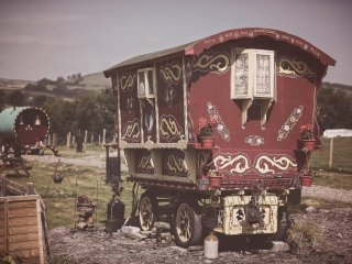 """Rosie"" Gypsy wagon sleeps 2, Willow sleeps 4, B&B - Rhayader vacation rentals"