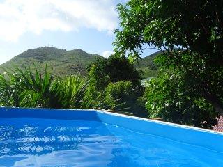 Créole house in tropical garden sunset view - Saint Martin vacation rentals