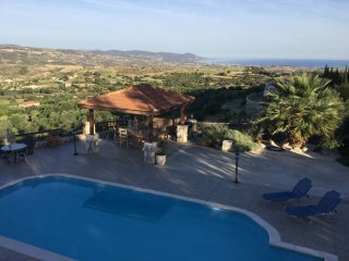 Private Villa with Pool & Spectacular Sea Views - Peristerona vacation rentals