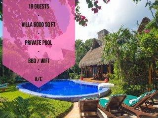Riviera Maya Haciendas - Laguna Encantada (18pers) - Akumal vacation rentals