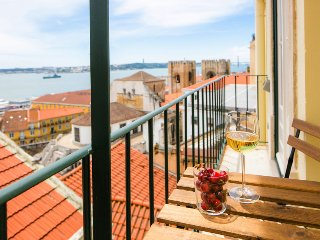 At the heart of Lisbon's old town, 2 bedrooms´ apartment with view over Tagus river - Lisboa vacation rentals