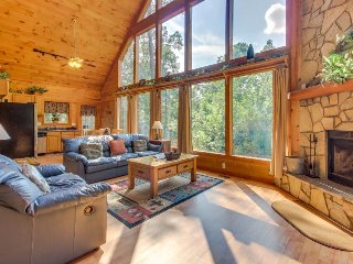 Dog-friendly, two story cabin in woods w/ screened-in deck, hot tub, pool table - Sautee Nacoochee vacation rentals