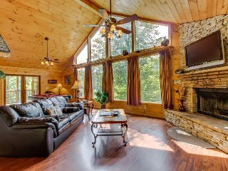 Gorgeous dog-friendly cabin w/mountain views, hot tub, sauna, pool table & more! - Sautee Nacoochee vacation rentals