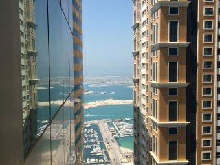 1-bedroom apt in Marina/high floor/palm & sea view - Dubai vacation rentals