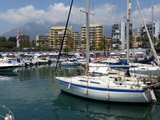 Sailboat in Marbella port,beaches,shops,nightlife - Marbella vacation rentals