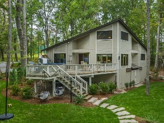Lakefront home with fire pit, hot tub, and dock slip! - Swanton vacation rentals