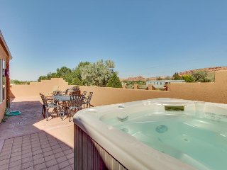 Adobe home w/shared seasonal pool, dog-friendly, private hot tub! - Moab vacation rentals