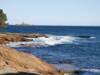 Studio vue mer face à la plage ( STUDIO SEA VIEW ) - Boulouris vacation rentals