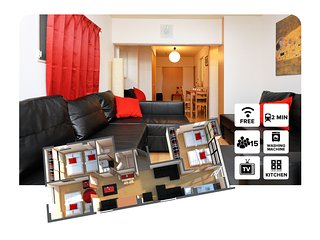 SHIMA#2 3 Bedrooms 難波&心斎橋付近! - Osaka vacation rentals