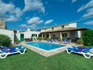 Sunbathe by the Pool at Beautiful Villa Maria - Pollenca vacation rentals