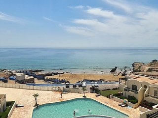 Sunny, 2-bedroom apartment with a terrace and swimming pool on the coast in Tiguert with sea views! - Tiguert vacation rentals