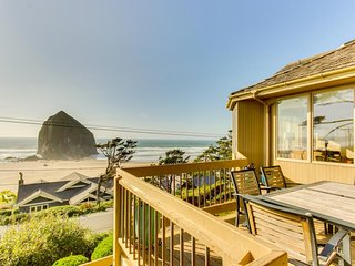 Relax in the hot tub & warm by the fire at this dog-friendly beachfront home! - Cannon Beach vacation rentals