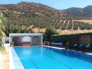 Finca Parroso mountain view apartment.private retreat sunning views heated pool. - Villanueva del Rosario vacation rentals