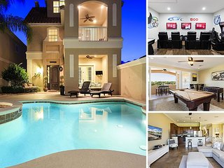 Magical Sunset Villa | Amazing Pool Villa with 2 Game Rooms, Slate Pool Table, 10 TVs throughout home and 3 Stories of Balconies with Amazing Views - Reunion vacation rentals