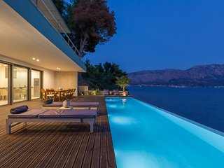 Unique beachfront villa with fantastic views over the Ionian Sea and its islands - Paleros vacation rentals
