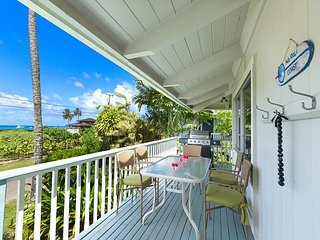 Steps to Beautiful Hanalei Bay with ocean views!!  Upgraded and Remodeled! - Hanalei vacation rentals
