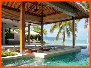 Villa 192 - Beach front luxury (4 BR option) continental breakfast included - Plai Laem vacation rentals