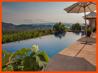 Villa 61 - Panoramic views (4 BR option) continental breakfast included - Choeng Mon vacation rentals