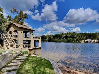 4BR, 4BA Lakefront Austin Home with Stunning Views, Private Dock & Beach - Buffalo Gap vacation rentals