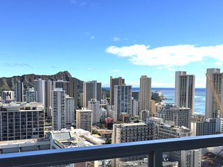 Ocean, Diamond Head, mountain Views -  36th floor - Honolulu vacation rentals