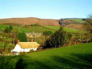 THE DAIRY, detached, thatched cottage, private garden, pet-friendly, WiFi, nr Watchet, Ref 915883 - Watchet vacation rentals