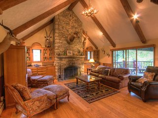 Private Banner Elk Mountain Cottage with Views! Custom Stone and Wood Work, Hot - Sugar Mountain vacation rentals