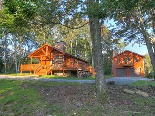 Unique Rustic Vacation Cabin on 50 acres with Views, Hot Tub, Game Room, Fire - Beech Mountain vacation rentals