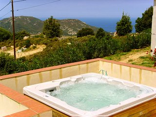 Stunning 2-bedroom house in Upper Corsica with a hot tub, furnished terrace and magnificent views! - Sant'Antonino vacation rentals
